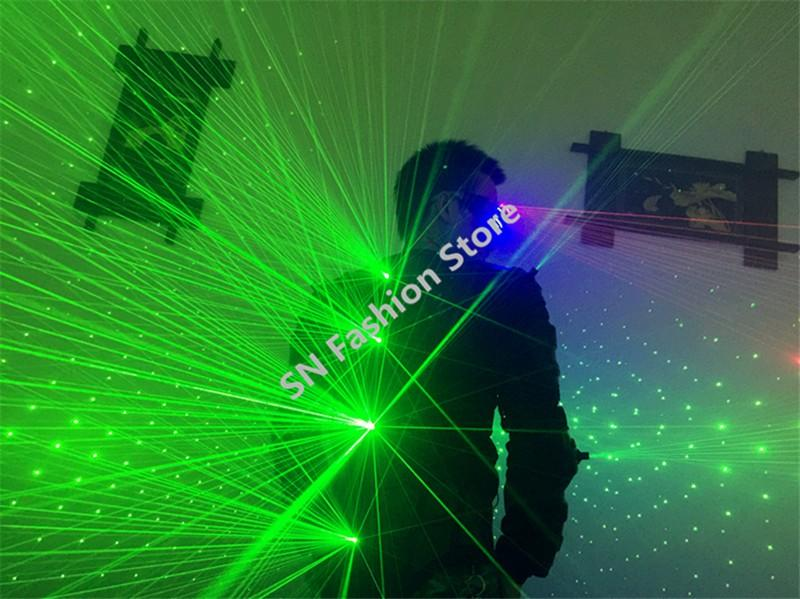 T826 Green color Laser Costumes/laser light clothing club bar party dance ballroom suit disco dj wears laser man stage robot projector show