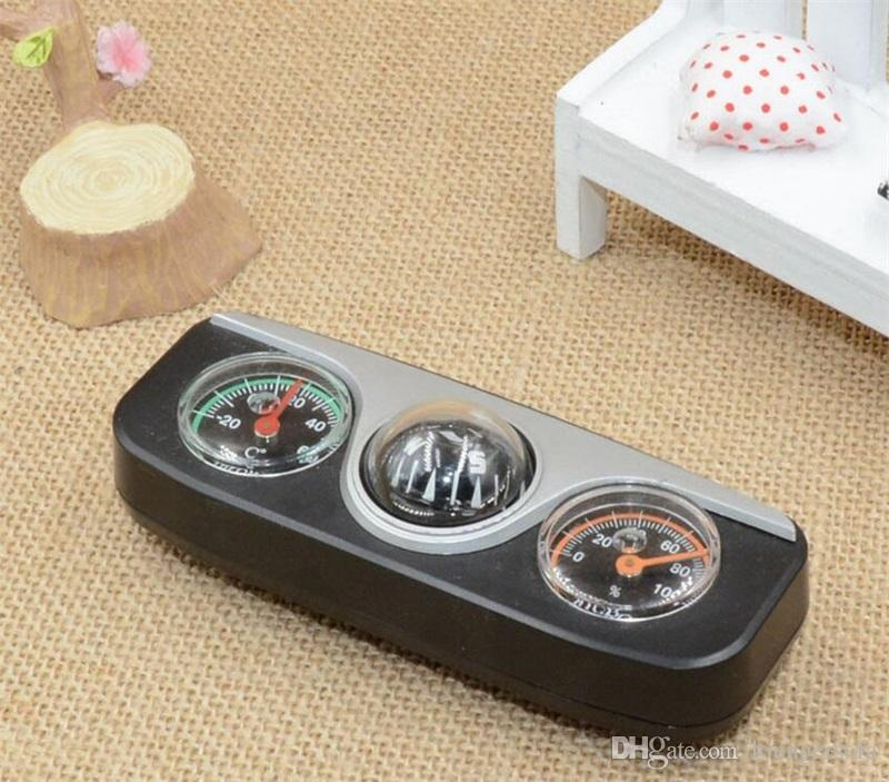 Multifunctional Black Color Thermometer For Outdoor Camping Car Compass Accurate Hygrometer Outdoor Gear Factory Direct Sale 15jh X