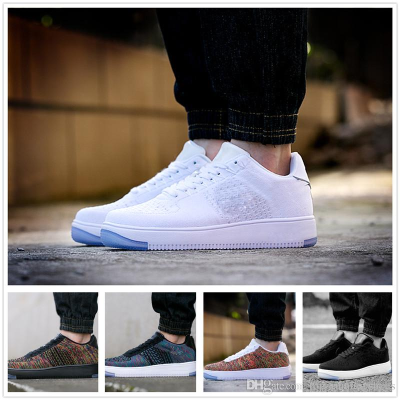 Nike Air Force 1 Flyknit: Blue   Zapatos hombre deportivos
