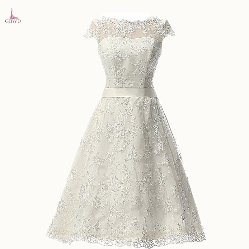 compre barato 2018 marfil simple una línea de vestido de novia corto