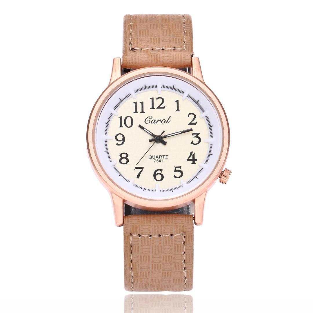 84fb52108af Compre Pulseira De Couro Moda Feminina Relógio De Pulso Relógios Clássico  Árabe Senhoras Digitais Relógio De Quartzo Feminino Vestido Relógio De  Shuidianba