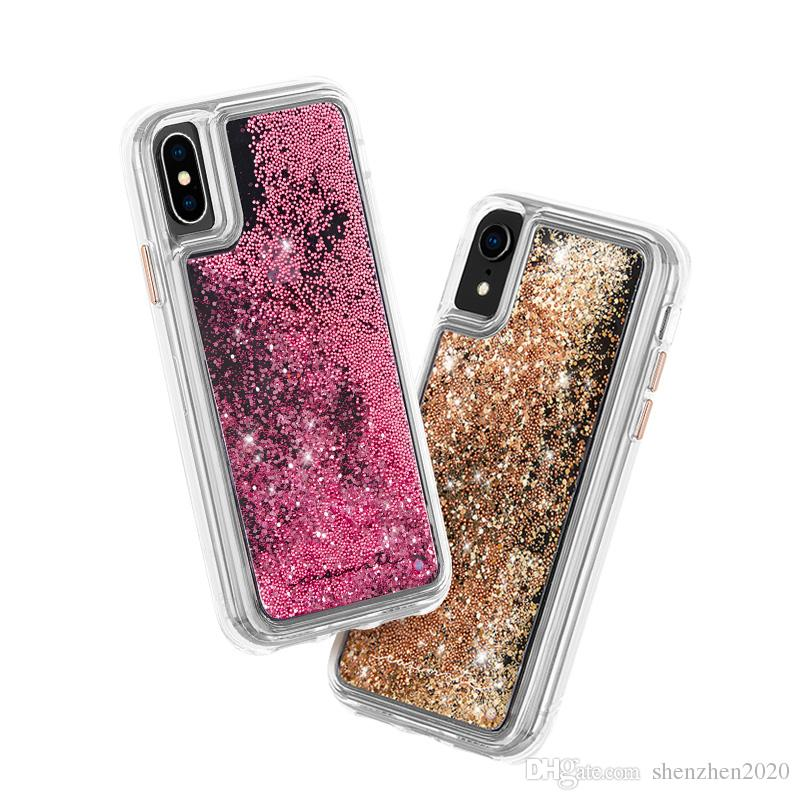 promo code 248ca 196d3 CASE MATE TFor iPX Cases Hybrid Waterfall Case Cascading Liquid Glitter  Back Cover Protective Design for ip X 6 6s 7 8 Plus Case 200pcs