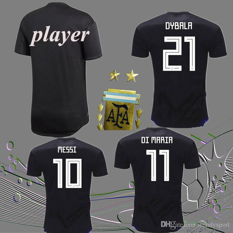d14336cf9 Free Ship 2018 Argentina Away S-2XL Player World Cup Soccer Jersey ...
