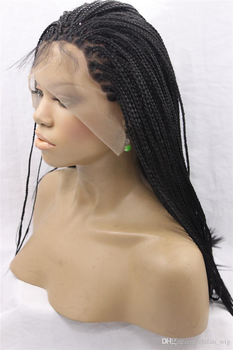ZhiFan dentelle tressée perruque 26 pouces dentelle perruques femmes blanches avant de lacet perruques expédition rapide capuchon réglable pour tout le monde DHL LIVRAISON GRATUITE