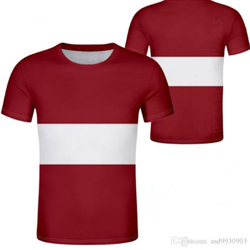 d5377d097165 Latvia Kenya Unisex Youth Student Boy Custom Made Name Number T Shirt  National Flag Personality Trend Wild Couples Casual T Shirt Clothes Tee  Shirts For ...