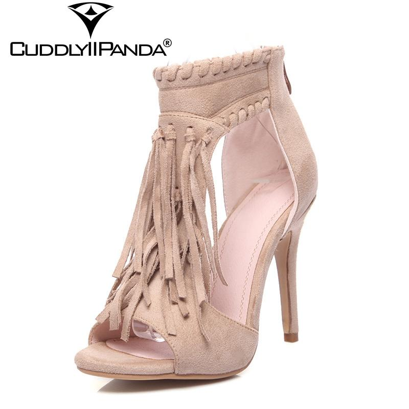 da07790a52e Wholesale 2018 Summer Tassel Fringe Gladiator Sandals Women Wedding Shoes  Luxury Design Peep Toe High Heel Sandalia Feminina Cheap Sandals Summer  Sandals ...