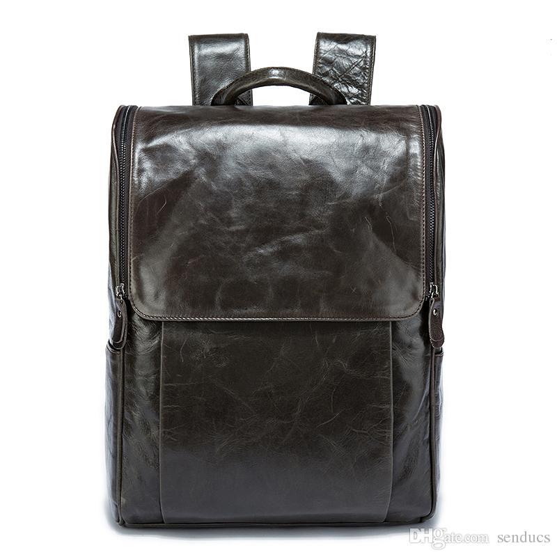 f0648007f390 2018 Designer Genuine Leather Men Fashion Backpacks Bolsa Mochila ...