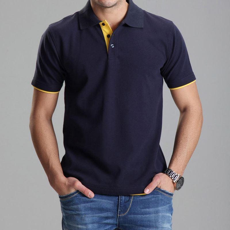 8203584d2a68 Acquista Polo Di Abbigliamento Polo Homme All ingrosso Solido Camicia Da  Uomo Casual T Shirt Top In Cotone Slim Fit 102TBG A  27.16 Dal Acore