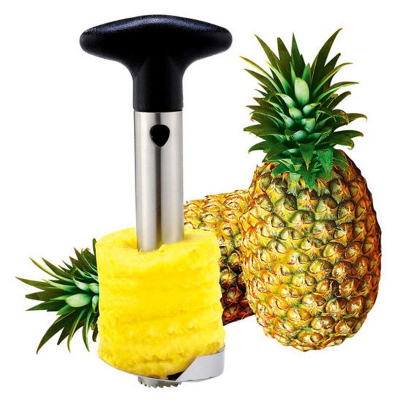 Stainless Steel Pineapple Peeler Cutter Slicer Corer Peel Core Tools Fruit Vegetable Knife Gadget Kitchen Spiralizer OOA4831