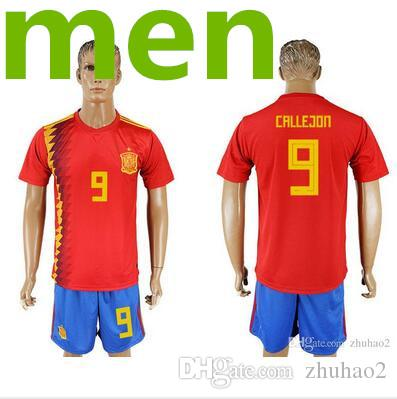 8bf5f3ca9 2019 2018 Spanish Soccer Jersey World Cup Home PIQUE MORATA 17 18 National  Team Away ASENSIO ISCO SILVA Men S Short Sleeve Football Shirt From  Zhuhao2