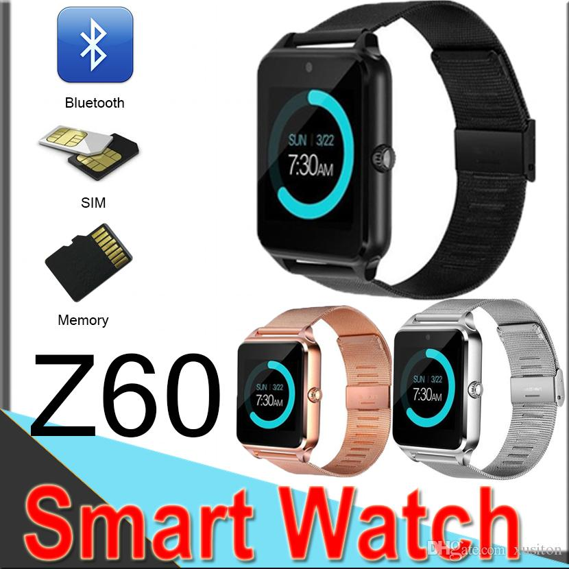 b803e12adcfbe4 Z60 Smart Watch Bluetooth Smart Bracelet Support SIM Record Sleep State TF  Card Stainless Steel Fitness Tracker for Android And IOS EZ60 Z60 Bluetooth  Smart ...