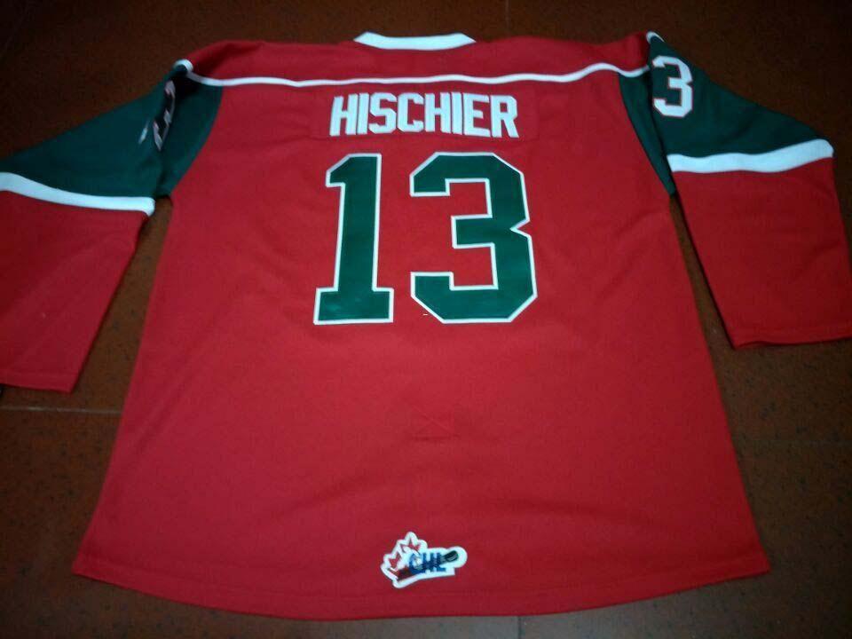 fd4d643c Men #13 NICO HISCHIER HALIFAX MOOSEHEADS Vintage Away Home Hockey ...