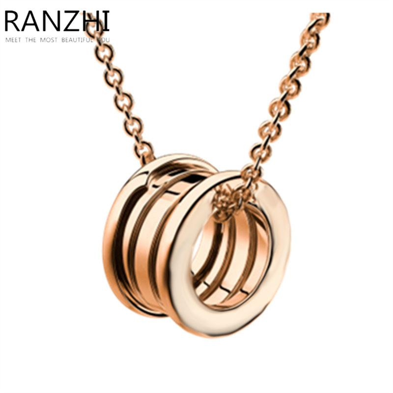 0c825c14a2 2019 RANZHI BULGARIA 925 Sterling Silver Genuine Original Gold Round  Pendant Necklace Classic Fashion Noble Ladies Jewelry Gift From Wutiamou,  ...