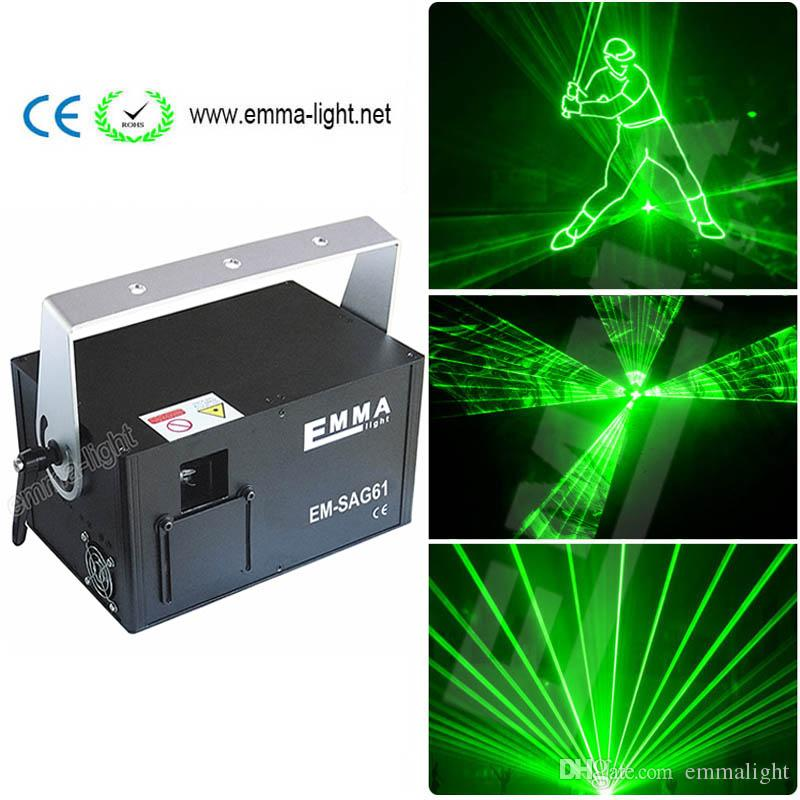 New Mini 1w Green Laser Christmas 1400 Graphics Projector