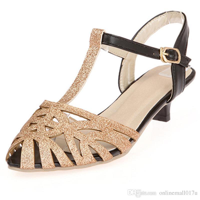 911dee783 2018 Hot Sale Women Sandals Gold Silver Elegant Summer Shoes Big ...