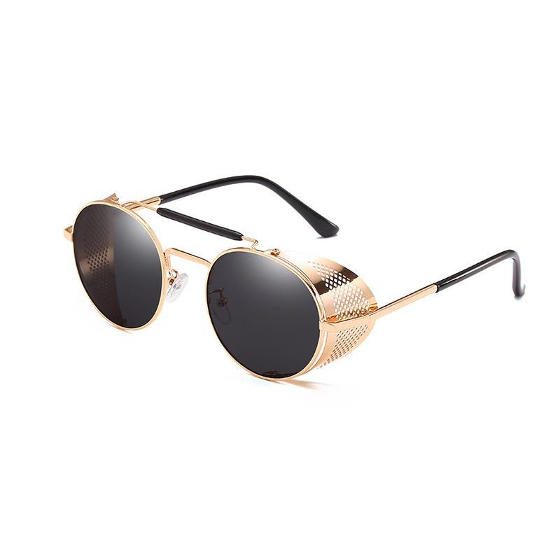 9261a7959cb Metal Round Steampunk Sunglasses Men Women Fashion Glasses Brand Designer  Retro Frame Vintage Sunglasses High Quality UV400 Fastrack Sunglasses Smith  ...