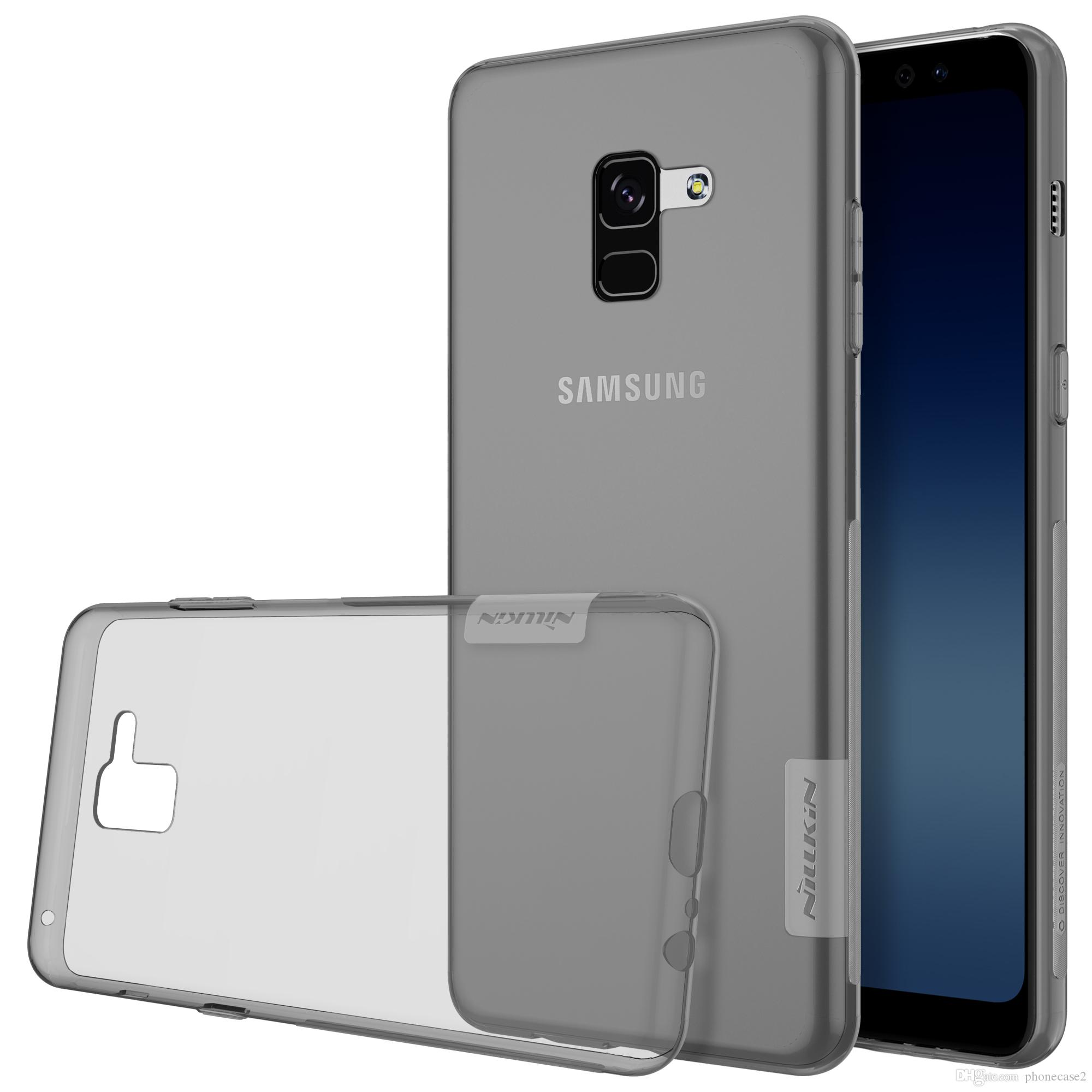 best value 2bbdf a67f0 NILLKIN Nature TPU soft back cover Case For Samsung A8 2018 / A8 Plus 2018  clear Transparent case with retailed package