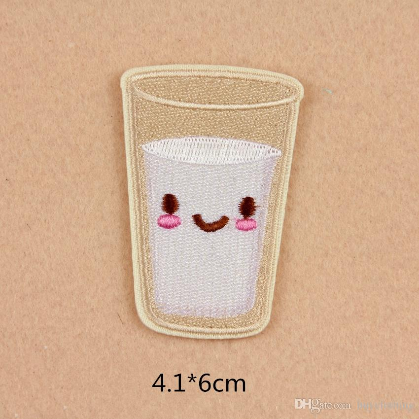 Embroidery Patch French Fries Hamburger Pineapple Doughnut Milk Heart DIY Sticker For Bag Hat Clothes Patches
