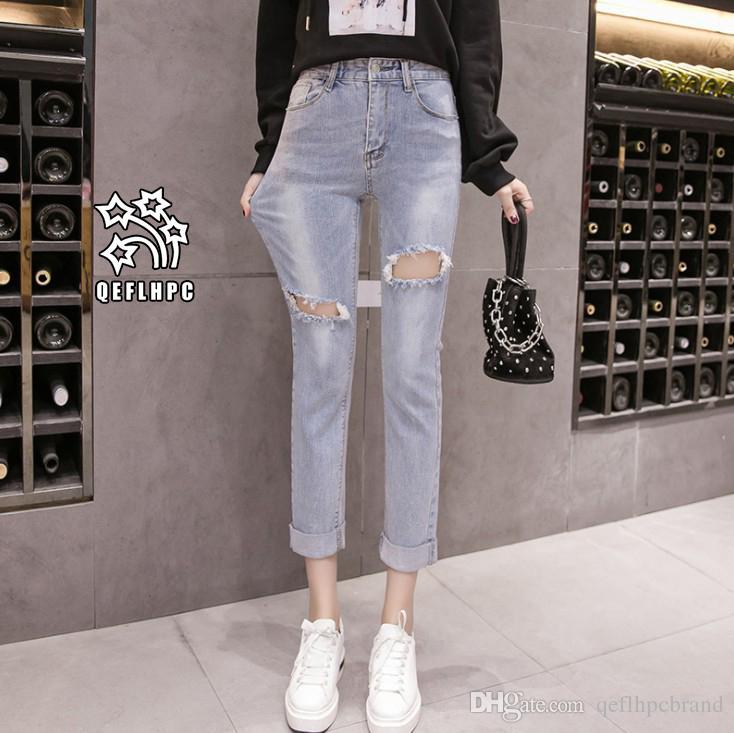 77487d28181 Ladies Sexy Skinny Jeans Women High Waisted Slim Fit Denim Pants Slim Denim  Straight Biker Skinny Ripped Jeans Pencil Pants Trousers A8271  Women  Clothing ...