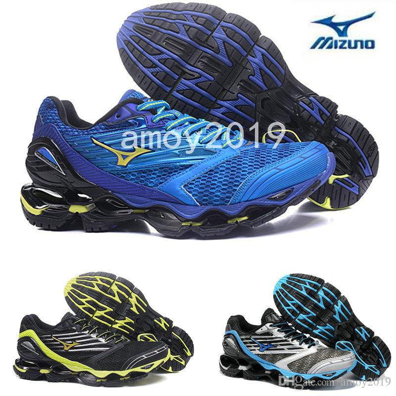 523090d386b New Arrive Authentic MIZUNO WAVE PROPHECY 5 Men Designer Sports Running  Shoes Sneakers Mizunos 5s Casual Mens Trainers Size 40 45 Running Trainers  Men ...