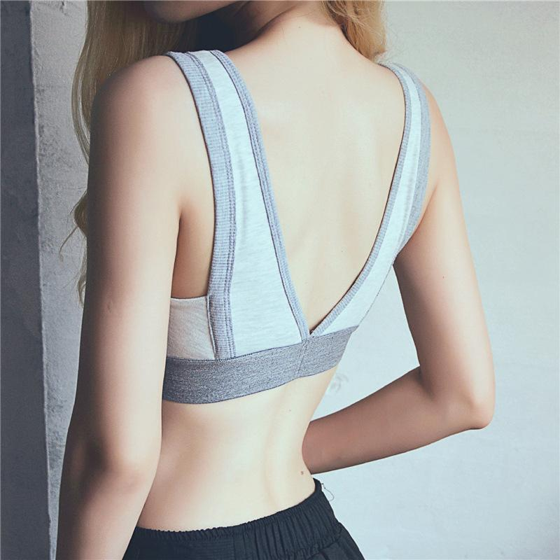 9645d1ac7e3e7 2019 Cotton Sports Bra Women Gym Crop Top Bra Fitness Yoga Push Up Workout  Girl Padded Running Gym Active Wear From Ahaheng