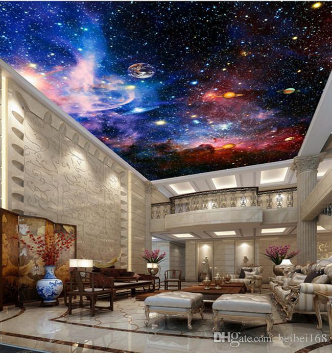 Satın Al özel Duvar Resimleri 3d Yıldız Bulutsusu Gece Gökyüzü Duvar