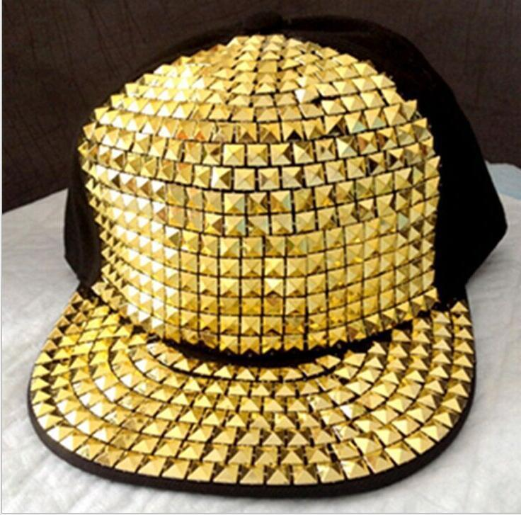 New Fashion Sequined Baseball Cap Punk Diamond Hip Hop Hats Snapback Outdoor Sunshade Caps Hats For Ladies