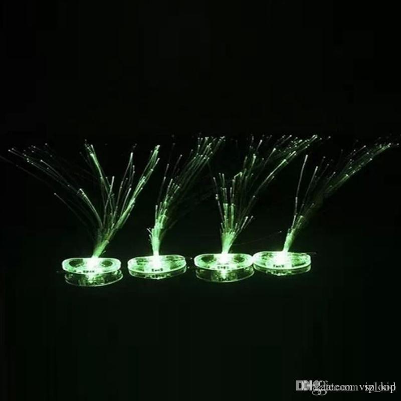 Luminous Light Up LED Hair Extension Flash Braid Party Girl Hair Glow by Fiber Optic Christmas Halloween Night Lights Decoration