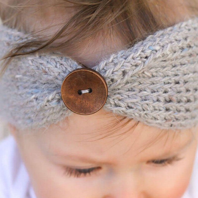 New Baby Girls Fashion Wool Crochet Headband Knit Hairband With