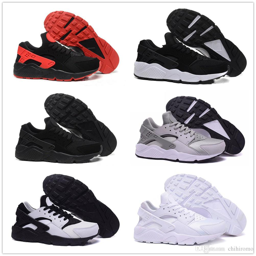 d39bee3a8d76 2018 Huarache 4.0 Classic Triple White Black Red Mens Women Air Huraches  Ultra Shoes Huaraches Trainer Designer Sneakers Running Shoes Boys Sports  Shoes ...