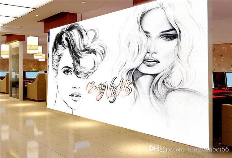 Photo Wallpaper Modern Abstract Art Beauty 3D Wall Murals Clothing Store Shopping Mall Backdrop Wall Decor Murales De Pared 3D