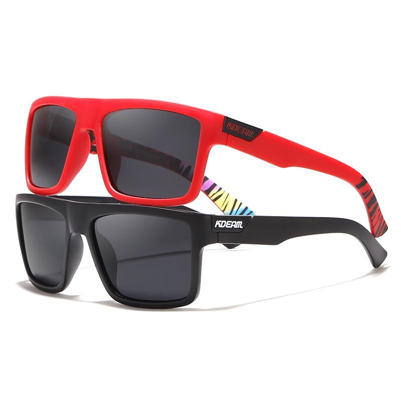 f12f909d75410 Compre Gafas De Sol Polarizadas Rectilíneas Rectilíneas Rectas De KDEAM Las  Gafas De Sol Exclusivas De Los Hombres De La Marca Incluyen Gafas  Protectoras A ...