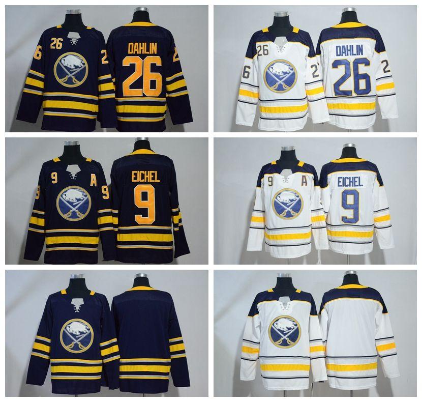 2018 New Buffalo Sabres Hockey Jerseys  9 Jack Eichel  26 Rasmus Dahlin Navy  Blue Mens Winter Classic Stitched Hockey Jerseys A Patch Jack Eichel Jersey  ... 15f0fd7c1