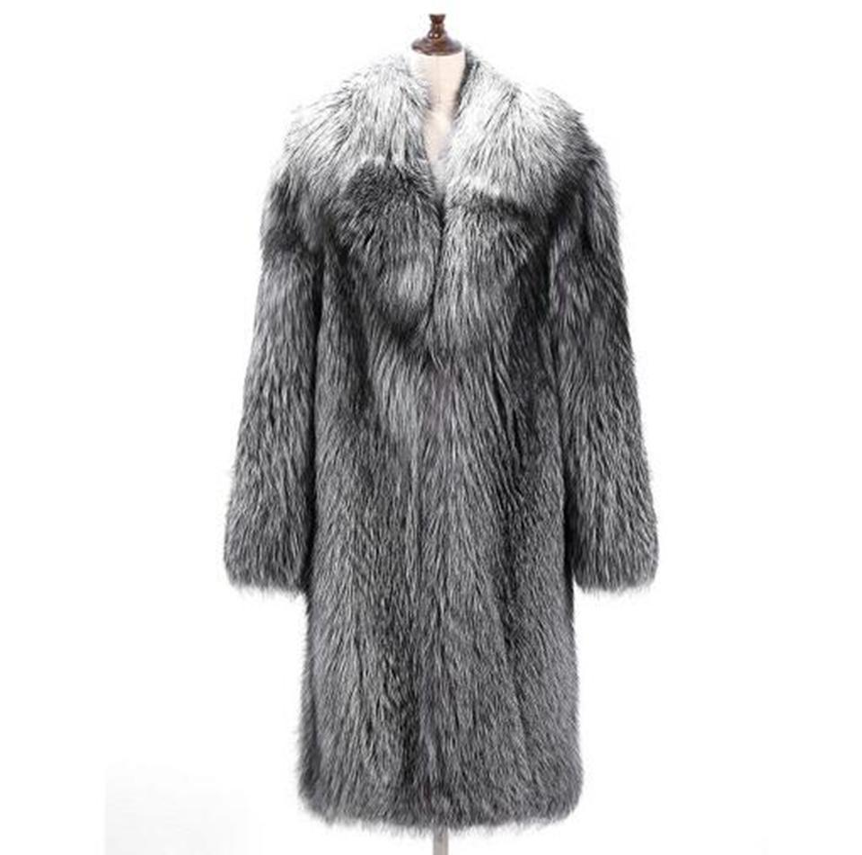 01632335f19 Men s Winter Korean Version of European And American Casual Fashion  Personality Trim Warm Fox Fur Large Size Fur Coat   S-6XL Faux Leather Coats  Cheap Faux ...