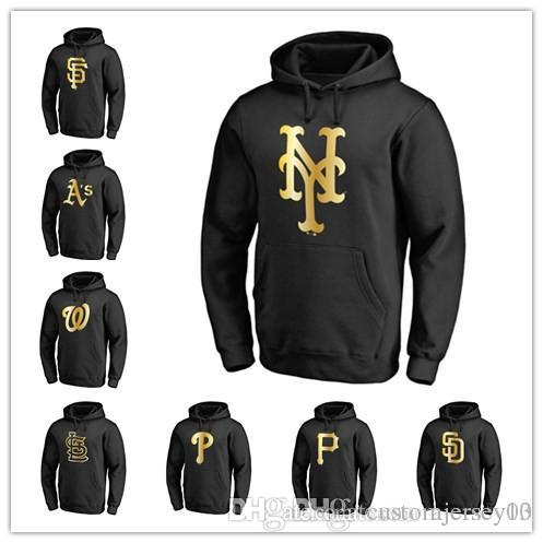uk availability 051cf 76ae7 Mets Athletics Phillies Pirates Padres Giants Cardinals Nationals Gold  Collection Pullover Hoodie Jackets Sweatshirt