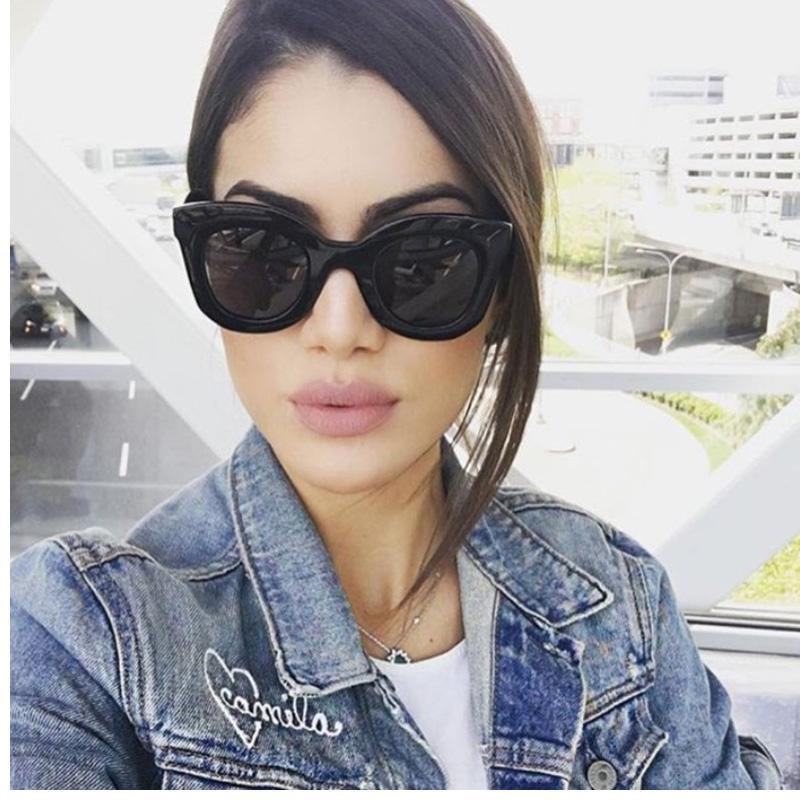 Compre 2018 Moda Cat Eye Pink Sunglasses Mulher Shades Espelho Feminino  Quadrado Óculos De Sol Para As Mulheres Revestimento Oculos Marca Óculos De  Sol De ... 3c21364b93