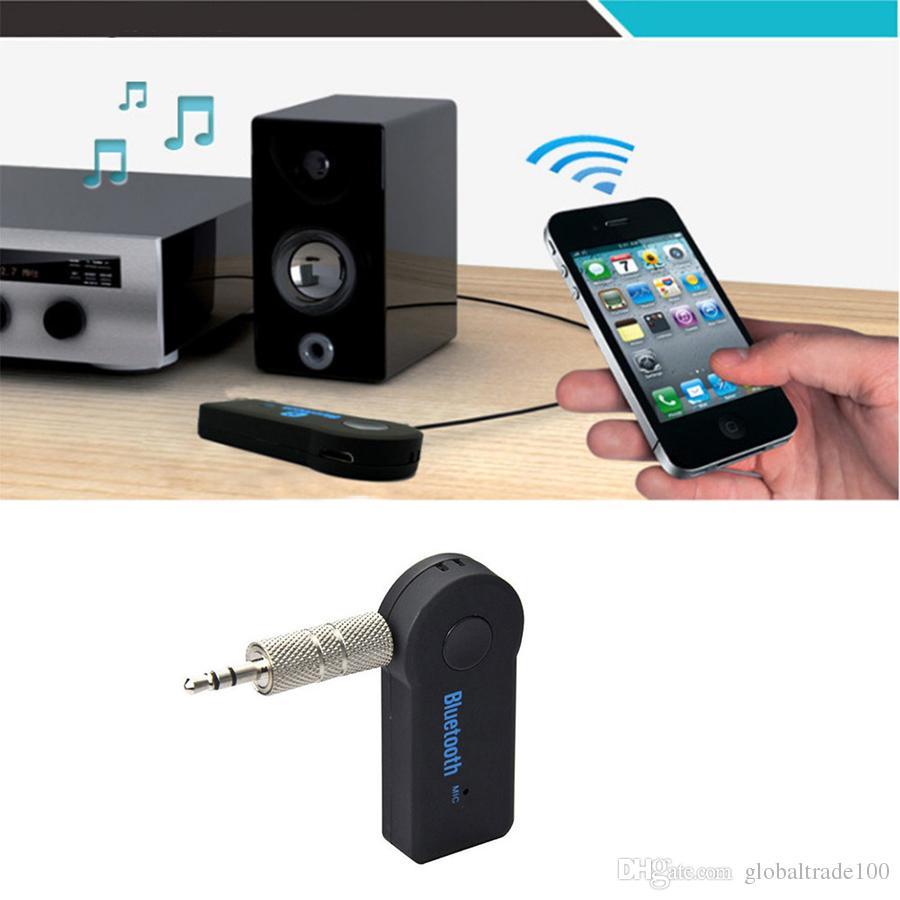 Blutooth Receptor de Música Sem Fio Do Carro Kit AUX A2DP Handsfree Adaptador de Fone De Ouvido De Áudio Transmissor FM com Microfone