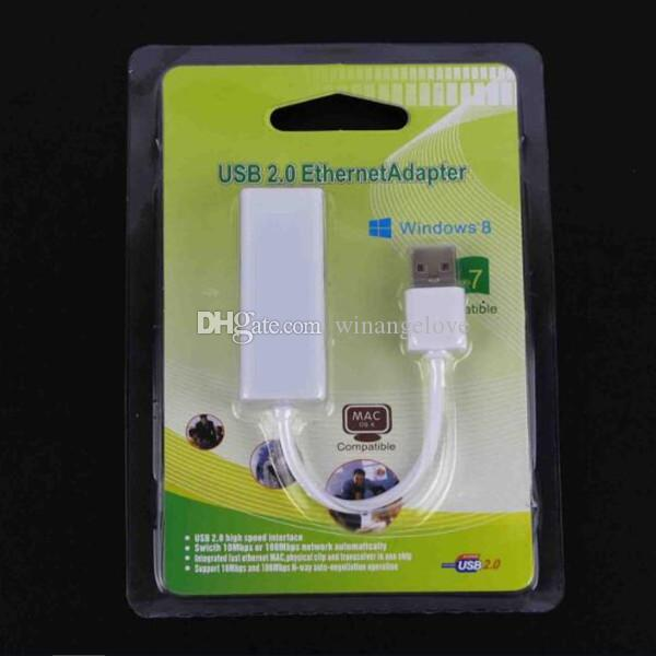 USB 2.0 to RJ45 Network Card Lan Ethernet Adapter For Mac OS Android Tablet pc Win 7 8 10 10/100Mbps