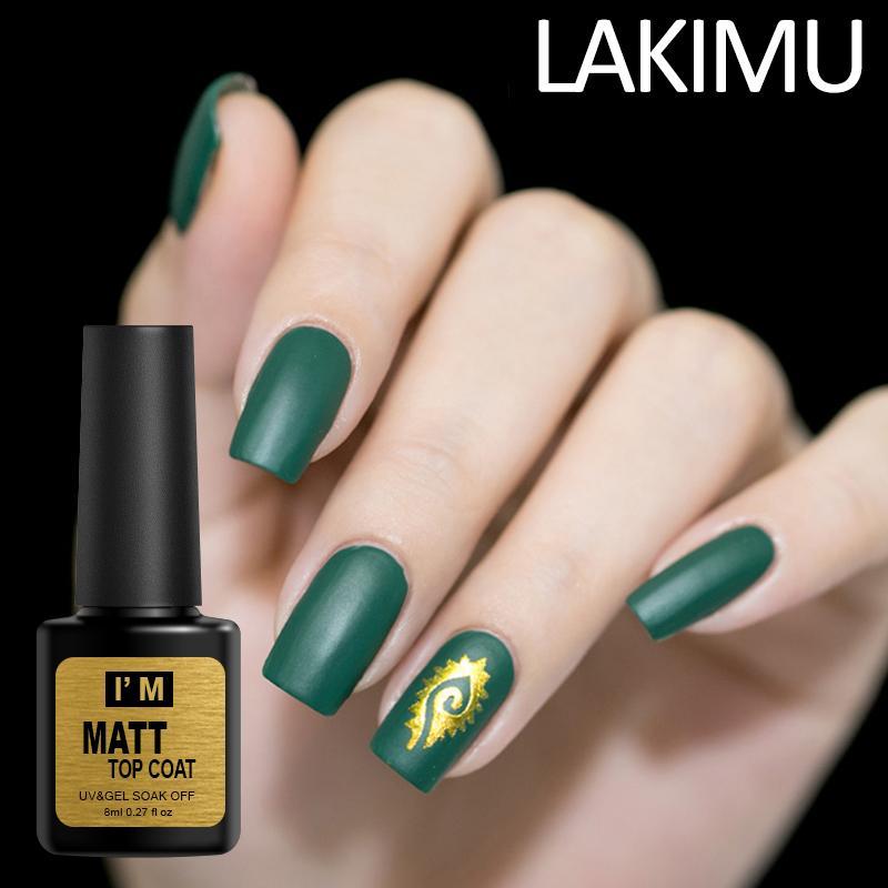 Lakimu DIY Nail Art Decoration Matte Top Coat Nail Gel Polish ...