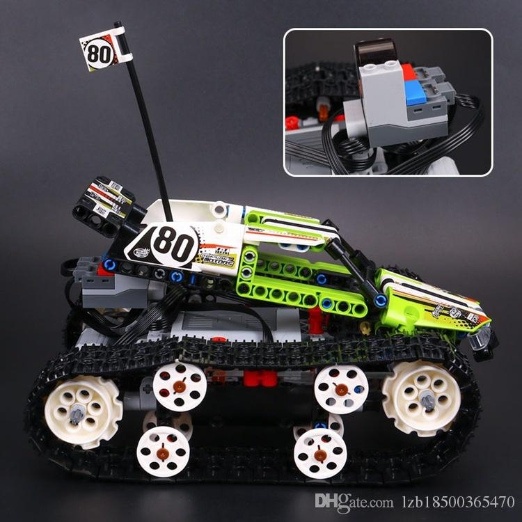20033 Science and Technology Series Remote Control Tracked Vehicle Electric Assembly Small Granule , Intelligence Building Block , Children