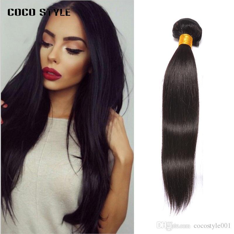 Brazilian Hair Weave Bundles Human Non Remy Straight Hair Weaves 1