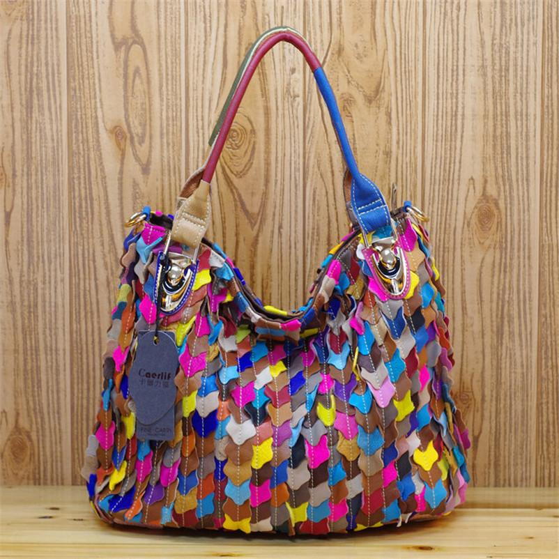 Caerlif Top Handle Bags Bolsas Tote Bag Genuine Leather Handbag Women  Handbags Colorful Fish Scale Bag Female Shoulder Bags Women Bags Leather  Bags For Men ... c3c8156ff2e41