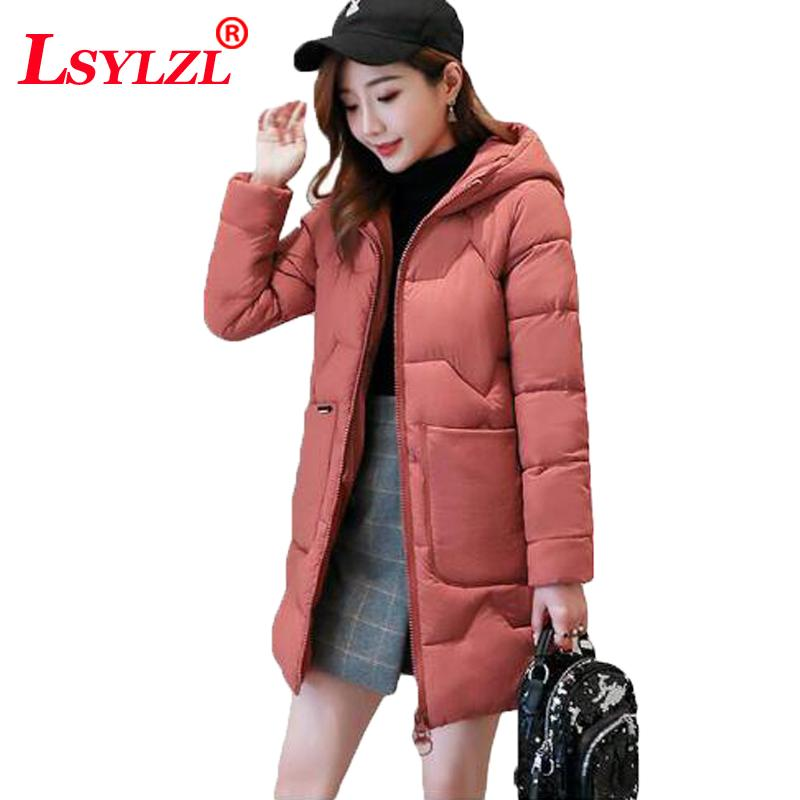 2f370a74d1b 2019 Long Hooded Parka Female Thick Warm Winter Coat Women Quilted Jacket  2018 Solid Plus Size Loose Cotton Padded Outwear B914 From Deborahao