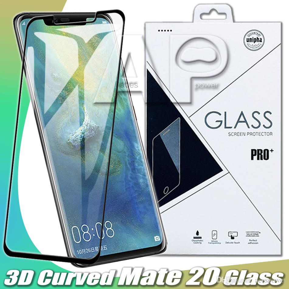 Curved Tempered Glass For Samsung Note 10 S10 Plus Huawei P30 Mate 20 3010 P20 Pro Samsung S10 Pixel3 XL LG G8 Sony