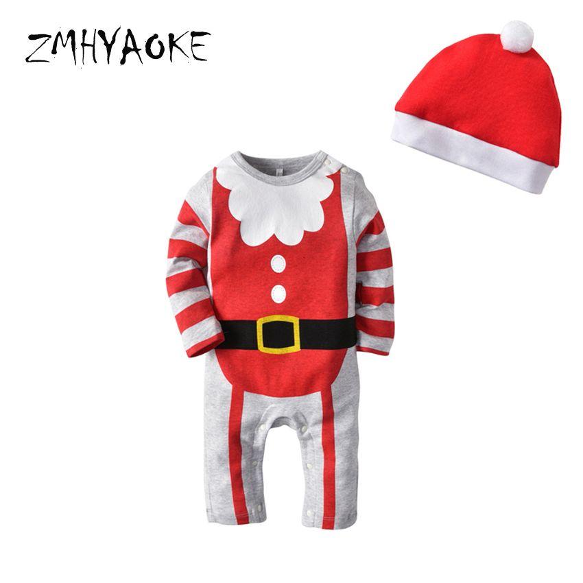 2f4935d89 Compre Zmhyaoke 2018 Ropa De Bebé De Invierno Pijamas Conjuntos Navidad  Pijama De Halloween Cosplay Para El Niño Inicio Ropa Bebé Niña Pijamas  Sombrero A ...
