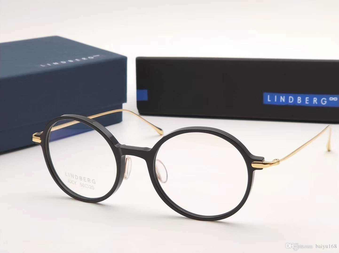 Compre Lindberg Jucy Gafas Redondas De Titanio Gafas Negro Gafas De ...