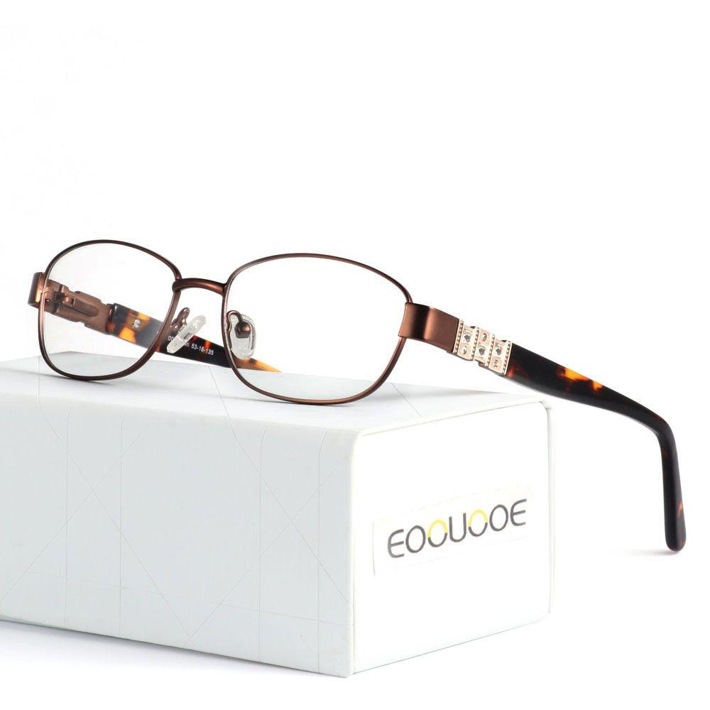 7bad30939963 2018 New Fashion Eyewear Oval Alloy Prescription Clear Lens Acetate ...