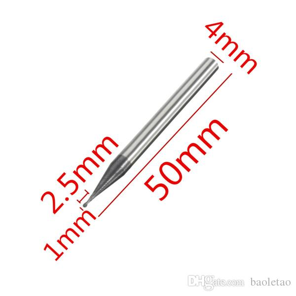2 Flutes Radius 0.5mm Tungsten Steel Coated Ball Nose End Mill Cutter