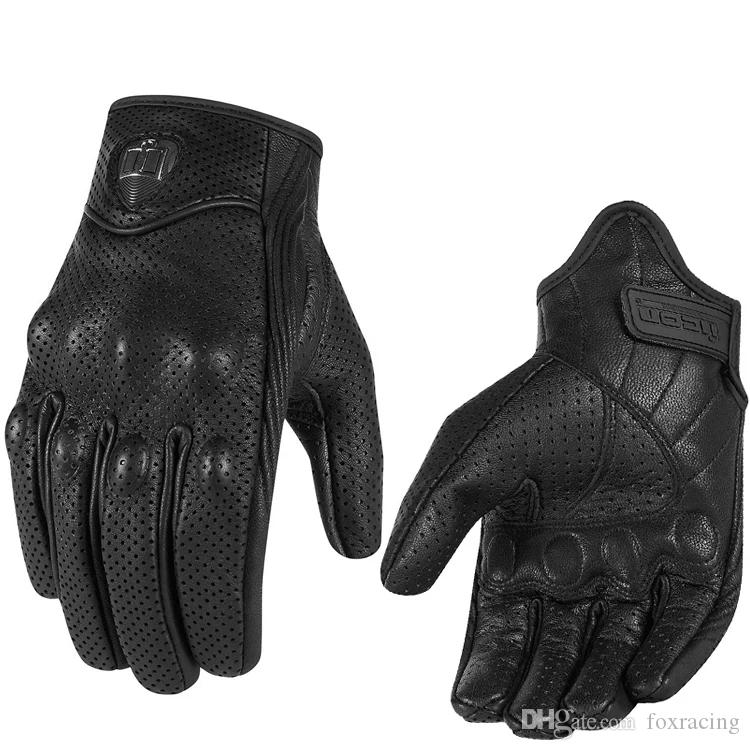 d6129eb73f2089 Moto Riding Glove Racing Gloves Leather Cycling Gloves Perforated Leather  Motorcycle Gloves Black Color M L XL Size Motorcycle Cold Weather Gloves ...