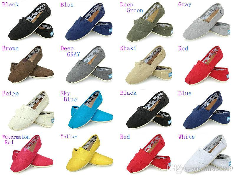 c5042a1b66be Casual Shoes Women/Men Classics TOm MRS Loafers Canvas Slip On Flats Shoes  Lazy Shoes Size W5 10 M11 15 Sports Shoes Womens Shoes From Lili860809, ...